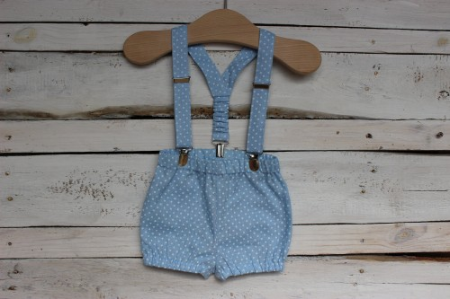 Baby Boy Shorts with suspenders
