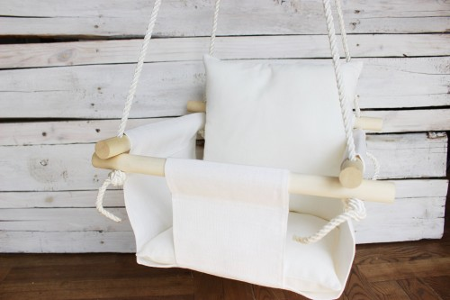 White Swing with pillow