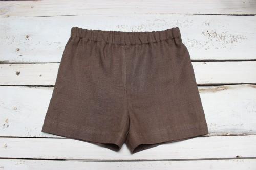 Brown linen Boys shorts