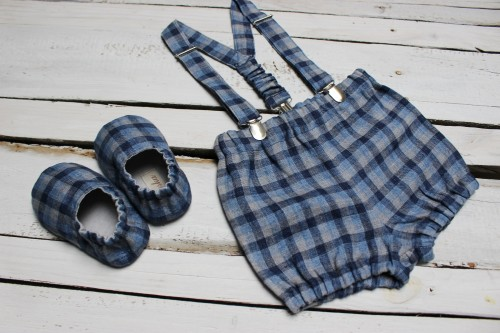 Bloomers with braces and shoes