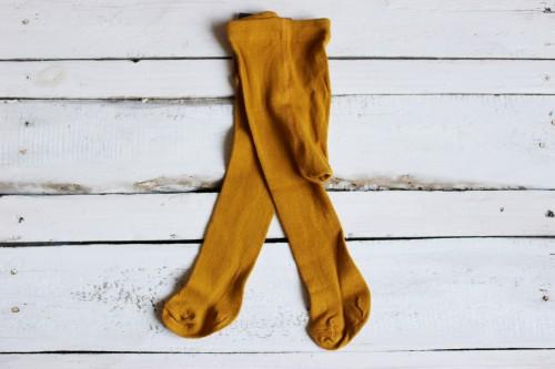Baby mustard pantyhose