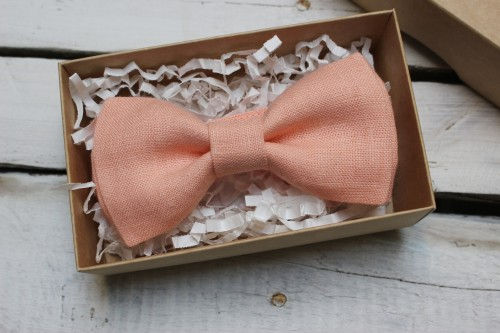 Dusty peach bow tie