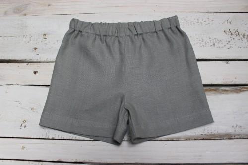 Grey linen Boys shorts