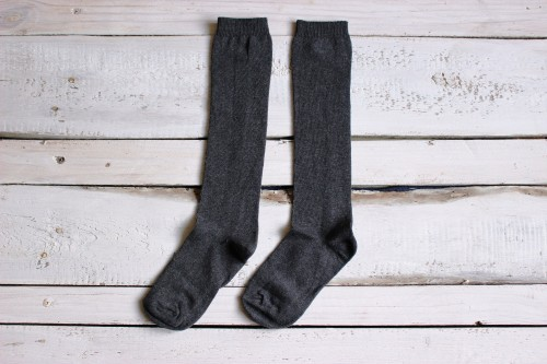 Kids Knee High dark gray Socks