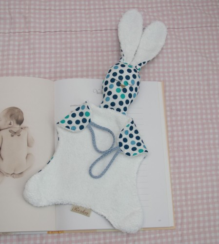 Linen rabbit lovey