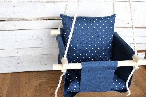 Navy blue swing for Baby
