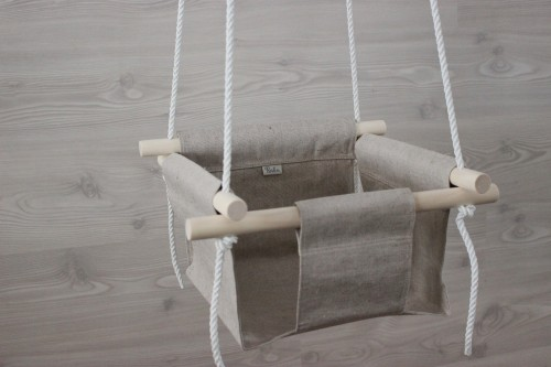 Natural linen Baby Swing