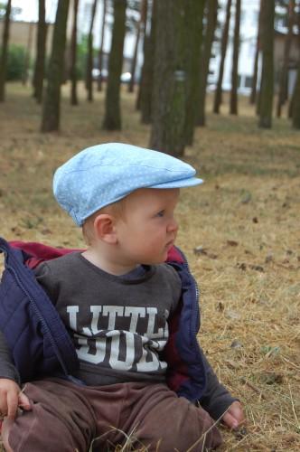 Newsboy linen Cap blue Hat for a boy linen Boys flat cap Toddler Flat Cap Baby boy Linen Cap polka dot Newsboys hat Christening hat