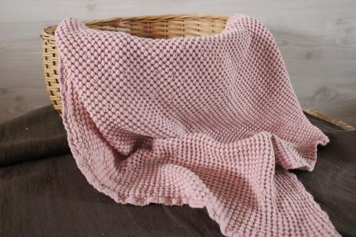 Pink Linen Baby Blanket