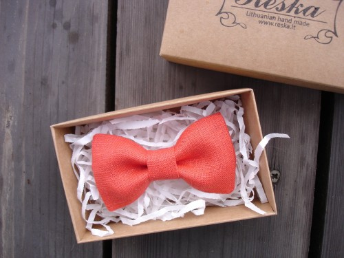 Red orange bow tie
