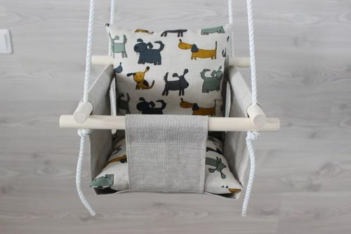 Linen swing for baby