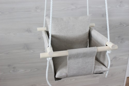 Natural Linen swing for baby