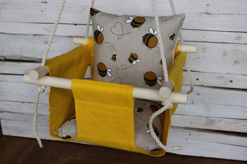 Yellow swing for baby
