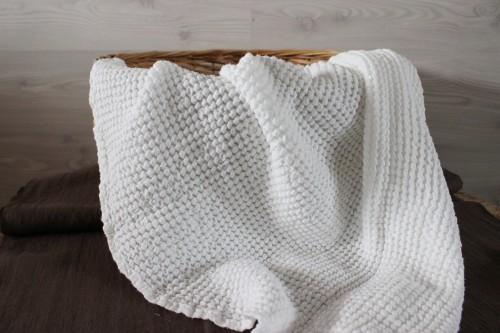 White Linen Baby Blanket