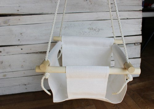 White Swing for Baby