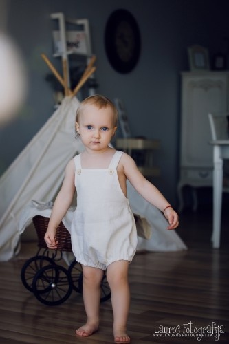 White Linen romper for baby Cake Smash Outfit Baby Boy romper toddler romper baby boy outfit 1st birthday linen clothes newborn rompers