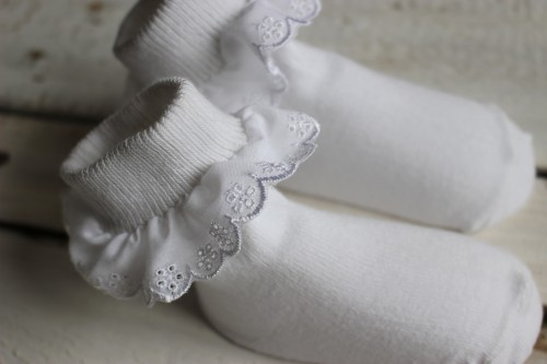 White ruffle Lace Socks